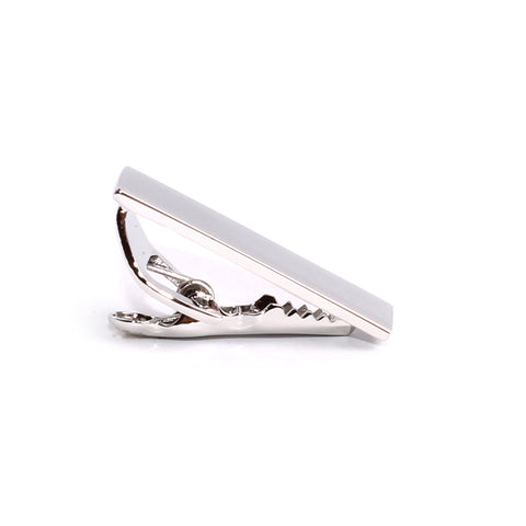 Mini Shining Silver Skinny Tie Bar