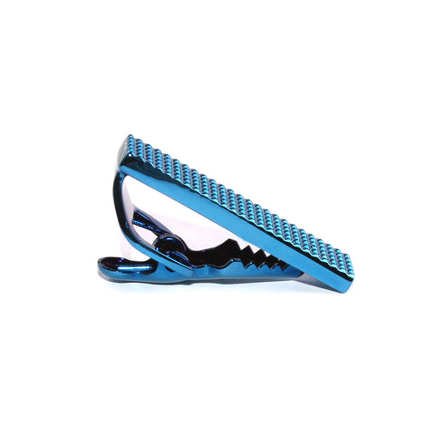 Mini Studded Blue Skinny Tie Bar