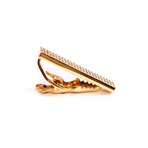 Mini Studded Gold Skinny Tie Bar