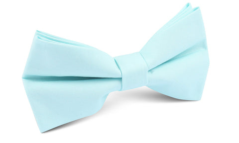 Mint Blue Cotton Bow Tie