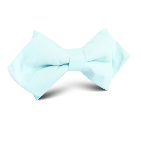 Mint Blue Cotton Diamond Bow Tie