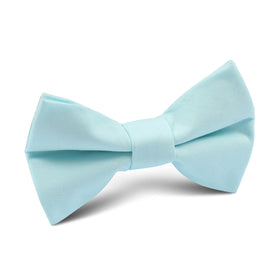 Mint Blue Cotton Kids Bow Tie