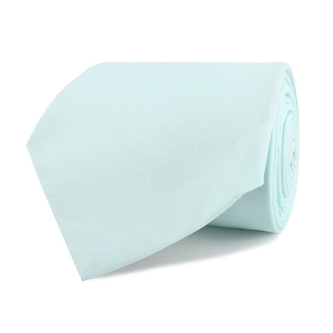 Mint Blue Cotton Necktie
