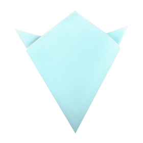 Mint Blue Cotton Pocket Square