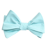 Mint Blue Cotton Self Tie Bow Tie 3