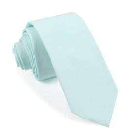 Mint Blue Cotton Skinny Tie