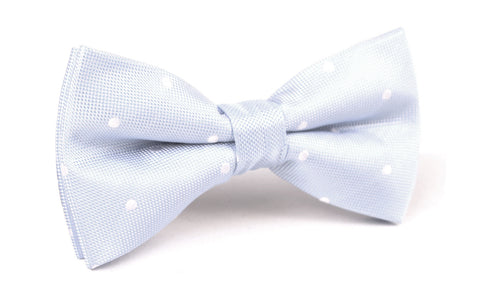 Mint Blue with White Polka Dots Bow Tie