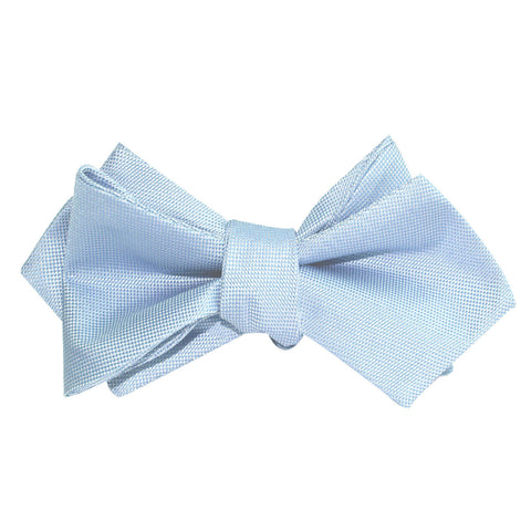 Mint Blue Self Tie Diamond Tip Bow Tie