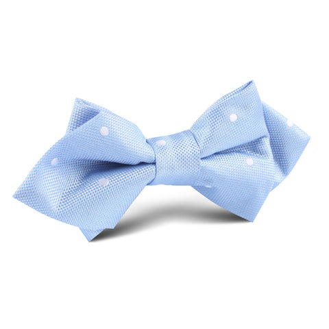 Mint Blue with White Polka Dots Diamond Bow Tie