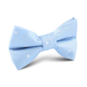 Mint Blue with White Polka Dots Kids Bow Tie