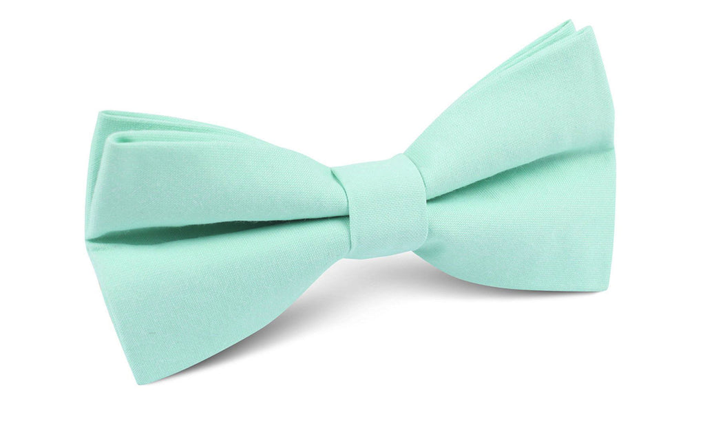 Mint Green Cotton Bow Tie