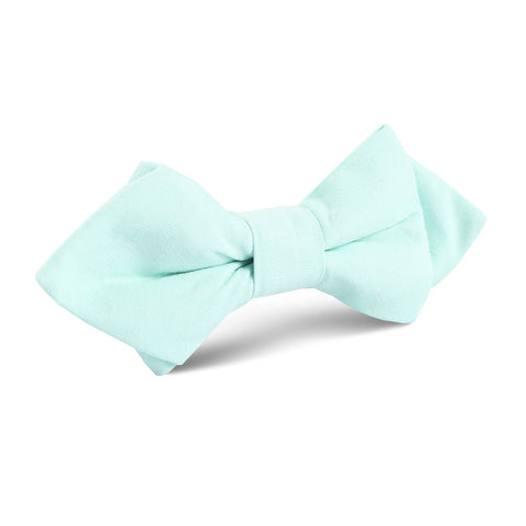 Mint Green Cotton Diamond Bow Tie
