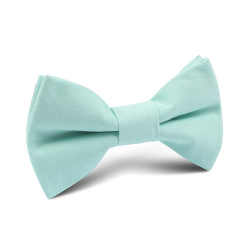 Mint Green Cotton Kids Bow Tie