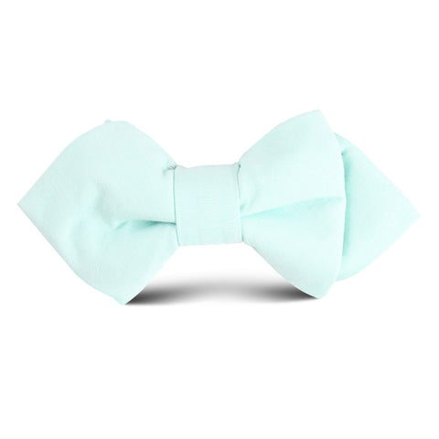 Mint Green Cotton Kids Diamond Bow Tie