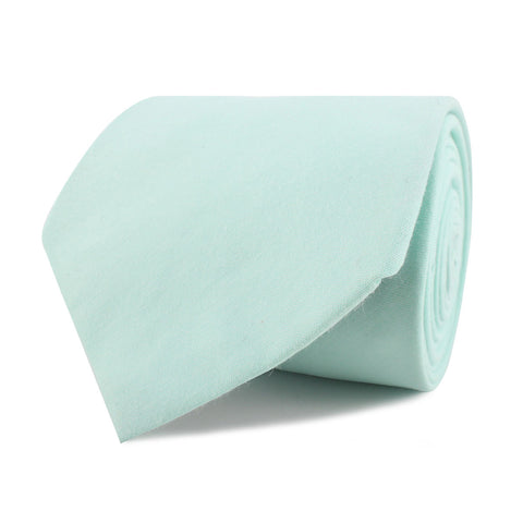 Mint Green Cotton Necktie