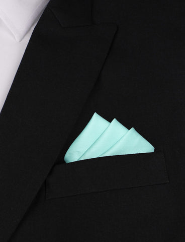 Mint Green Cotton Pocket Square