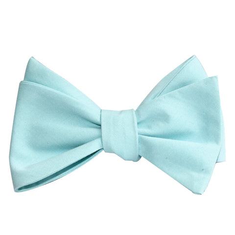 Mint Green Cotton Self Tie Bow Tie