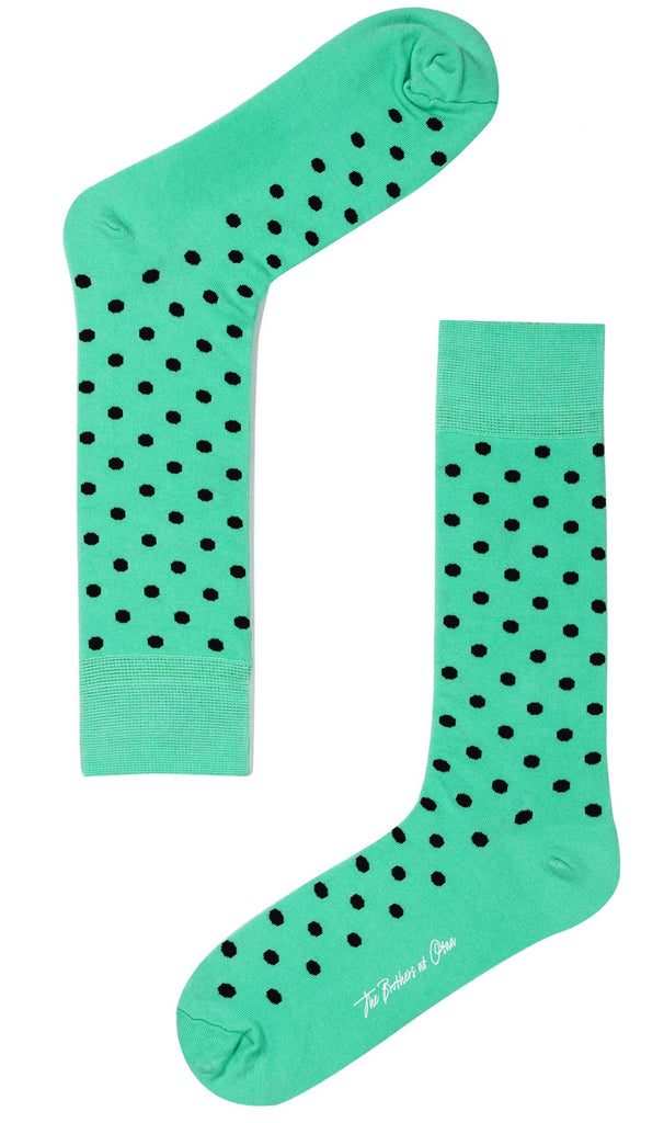 Mint Green Dot Socks