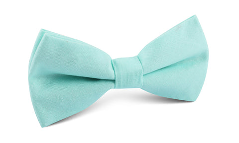 Mint Green Linen Bow Tie