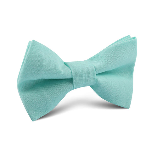 Mint Green Linen Kids Bow Tie