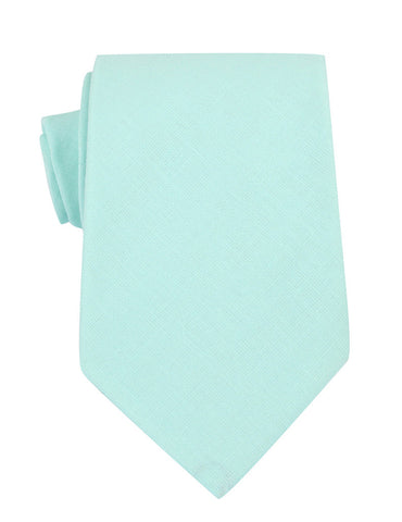Mint Green Linen Necktie