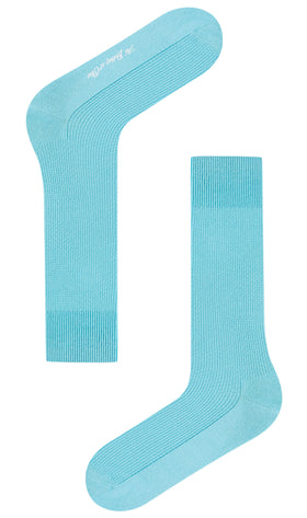 Mist Blue Textured Socks