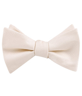 Misty Rose Pink Weave Self Bow Tie