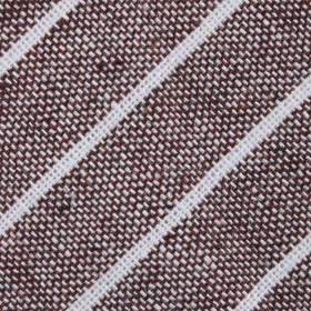 Mocha Brown Pinstripe Linen Diamond Bow Tie