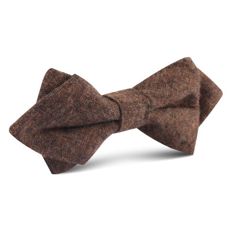 Monaco Brown Diamond Bow Tie