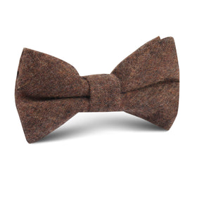 Monaco Brown Kids Bow Tie