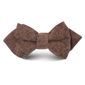 Monaco Brown Kids Diamond Bow Tie