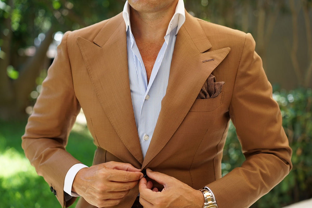 Monaco Brown Pocket Square