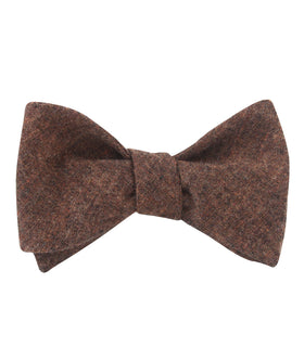 Monaco Brown Self Bow Tie