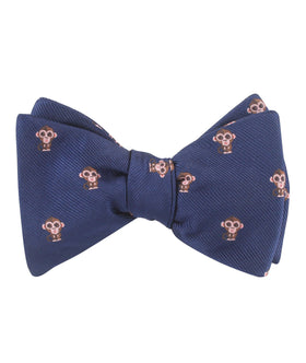 Monkey Self Bow Tie