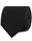 Montego Black Linen Neckties