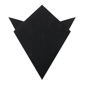 Montego Black Linen Pocket Square