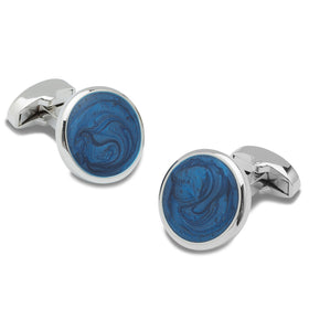Mother of Pearl Blue Cufflinks