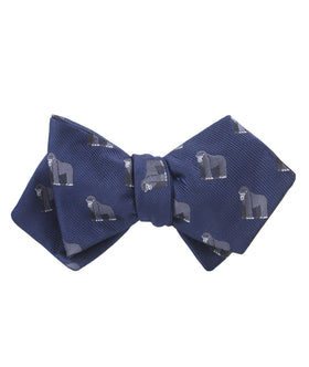 Mountain Gorilla Diamond Self Bow Tie