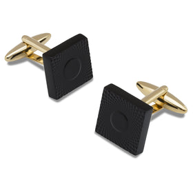 Mr. Fisk Black and Gold Cufflinks