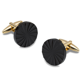 Mr. Mysterious Black and Gold Cufflinks