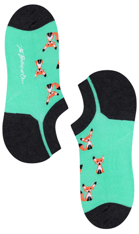 Mr Fox Mint Green Low Cut Socks