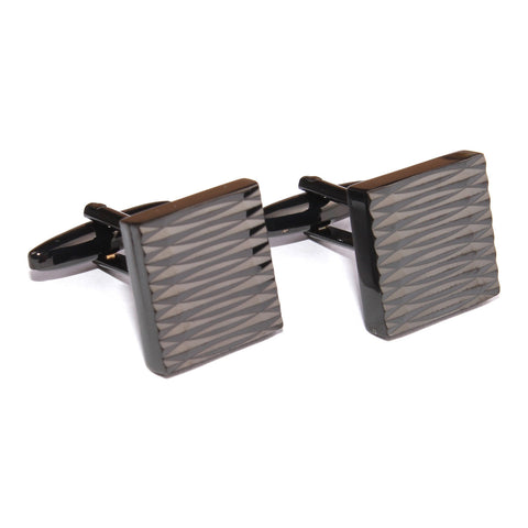 Mr Black Square Cufflinks