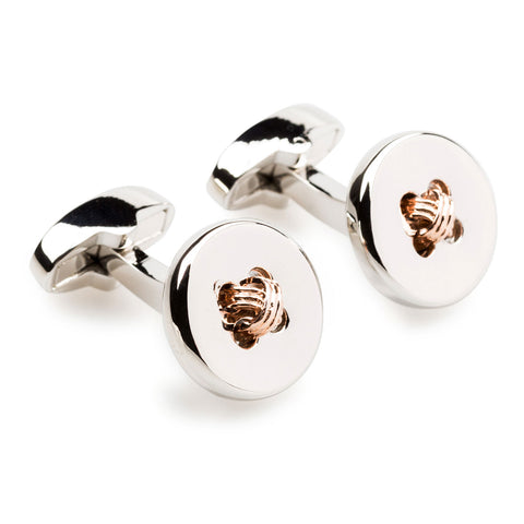 Mr Caine Button with Rose Gold Cufflinks