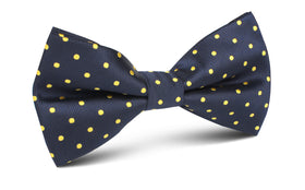 Mr Churchill Yellow Dots Bow Tie