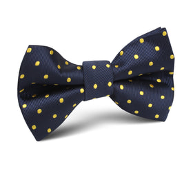 Mr Churchill Yellow Dots Kids Bow Tie
