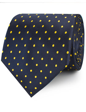 Mr Churchill Yellow Dots Necktie