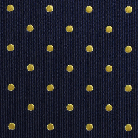 Mr Churchill Yellow Dots Pocket Square