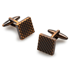 Mr Darcy Antique Copper Square Cufflinks
