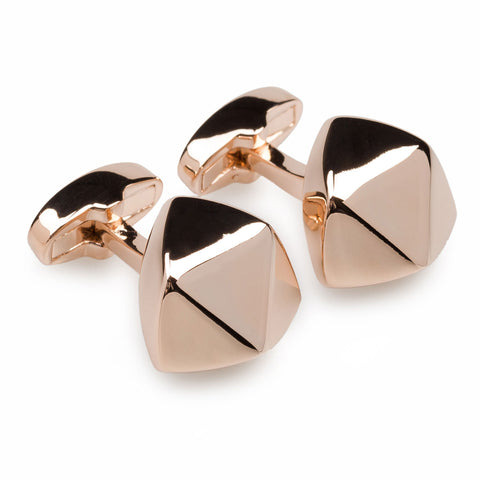 Mr Edison Rose Gold Cufflinks