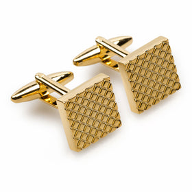 Mr Firth Gold Square Cufflinks